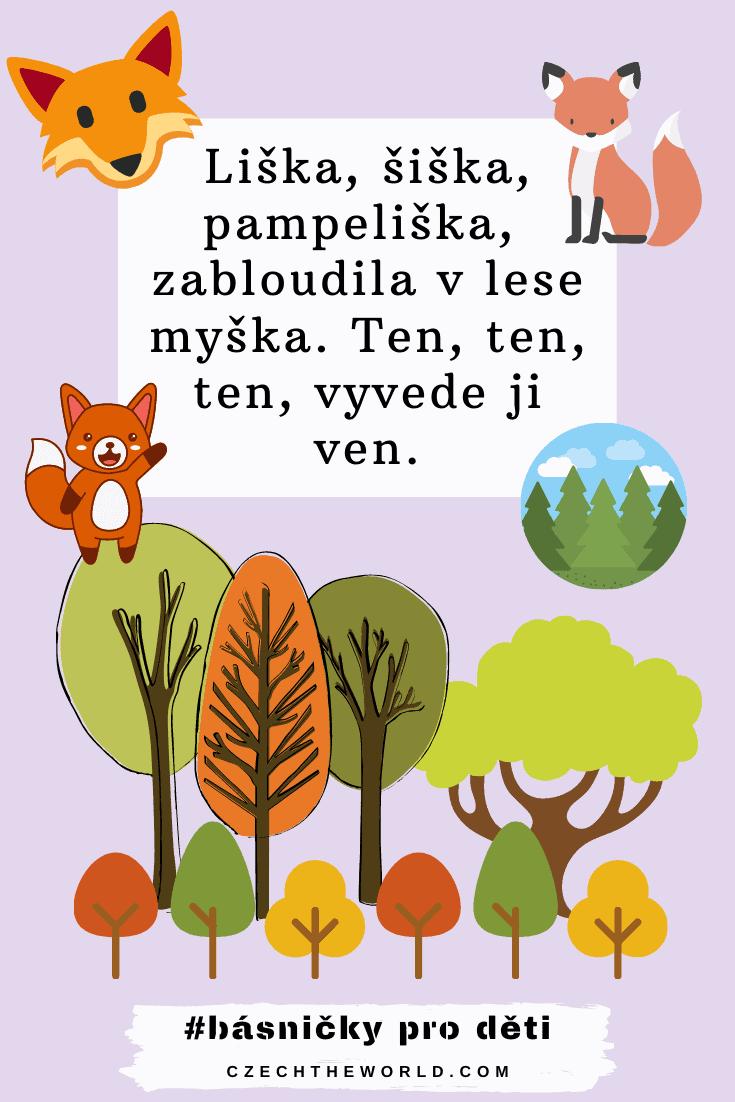 Básničky pro děti - Liška, šiška