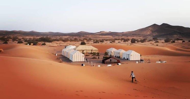 Sahara Desert of Merzouga, Morocco - Tent