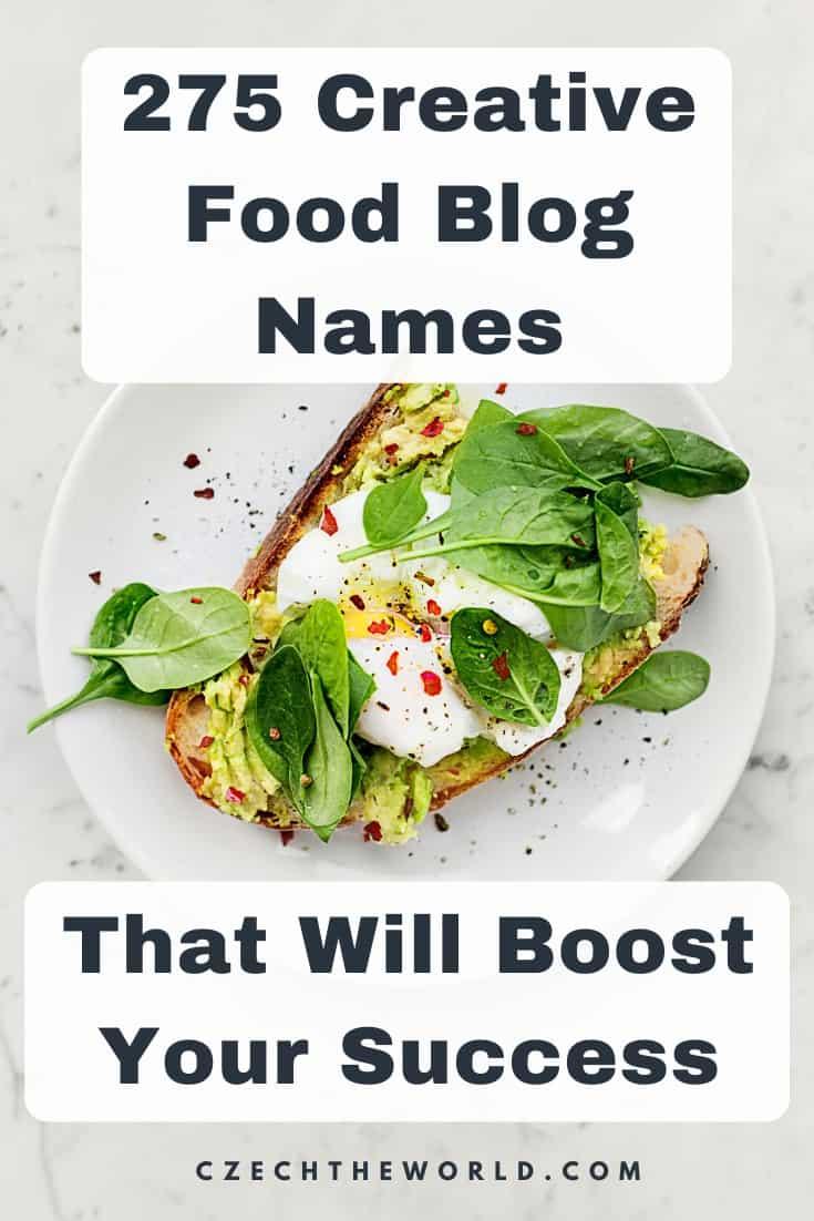 Best Names for Food Blog