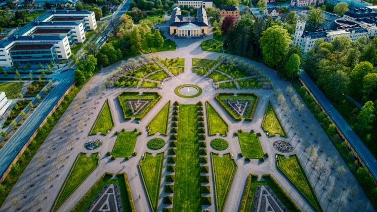 Botanical Gardens at Linneanum and Uppsala Castle