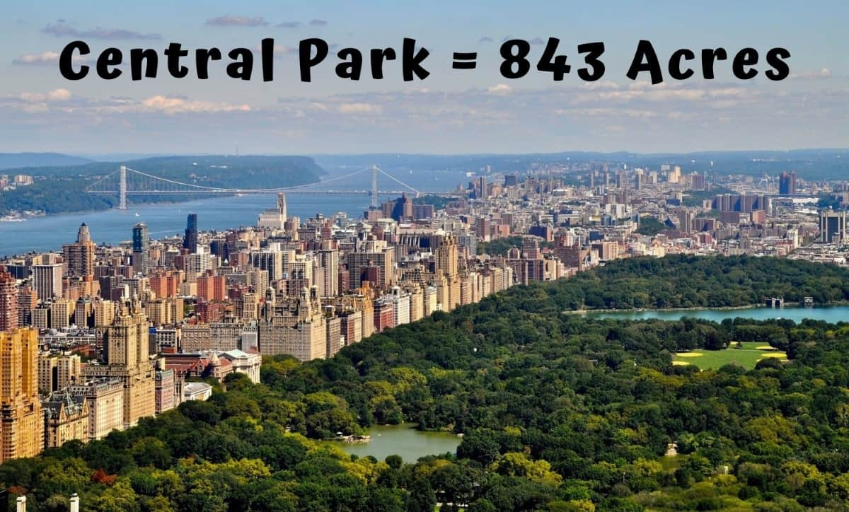 How big is an Acre - Central park
