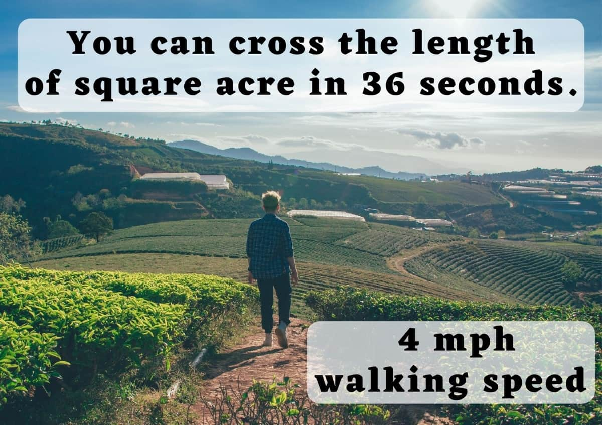 How big is an Acre - walking
