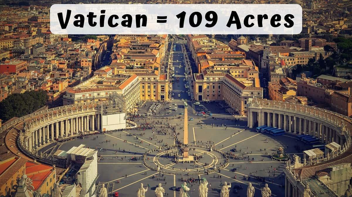 Vatican acre comparison