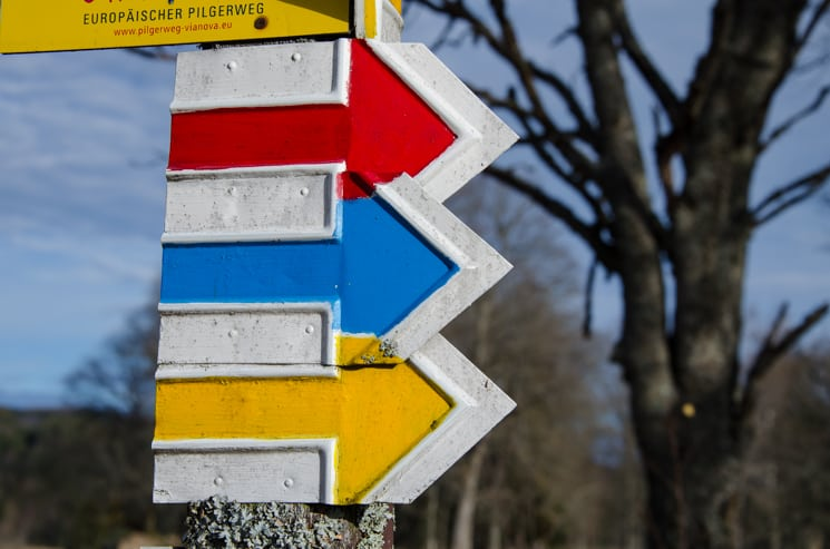 Czech tourist signs