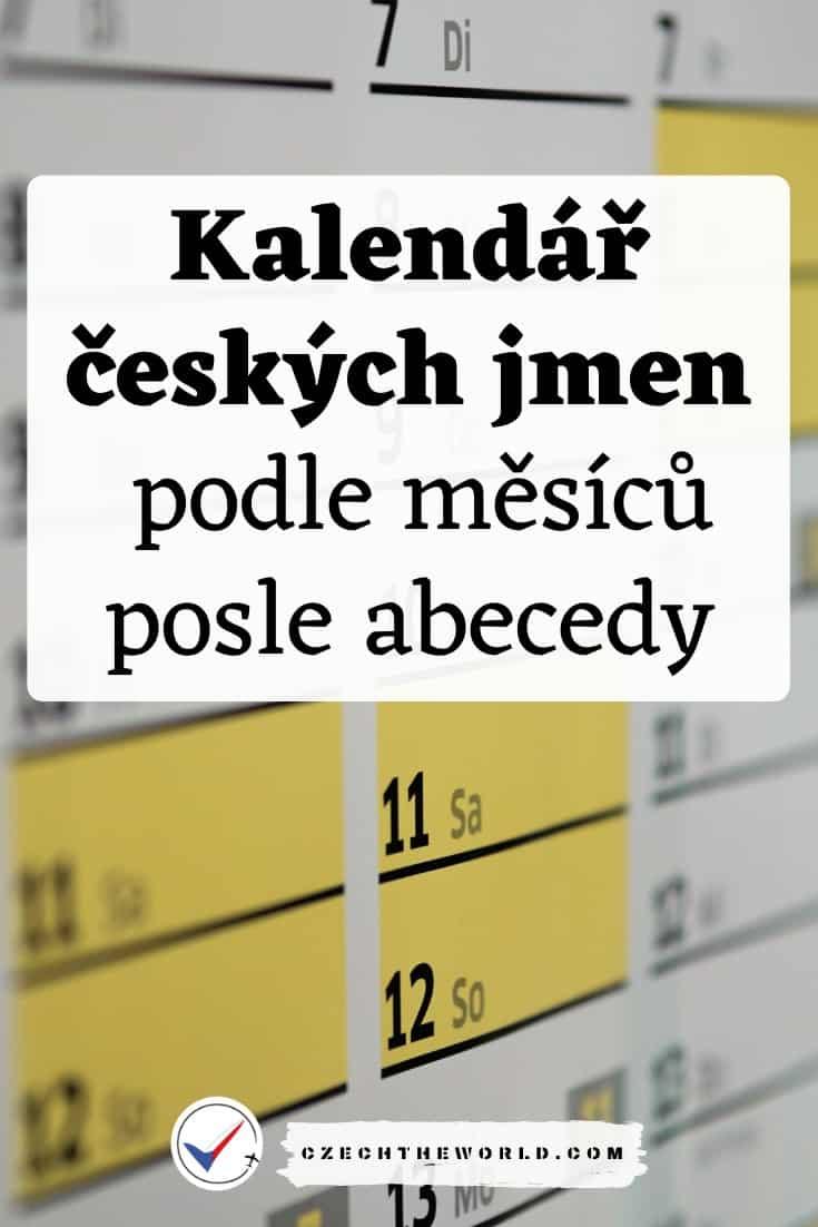 Kalendář českých jmen