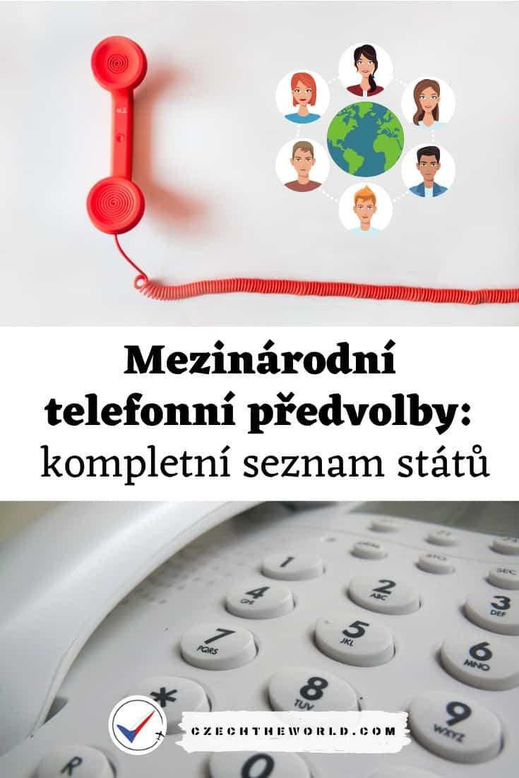 Zahraniční Mezinárodní telefonní předvolby operátorů