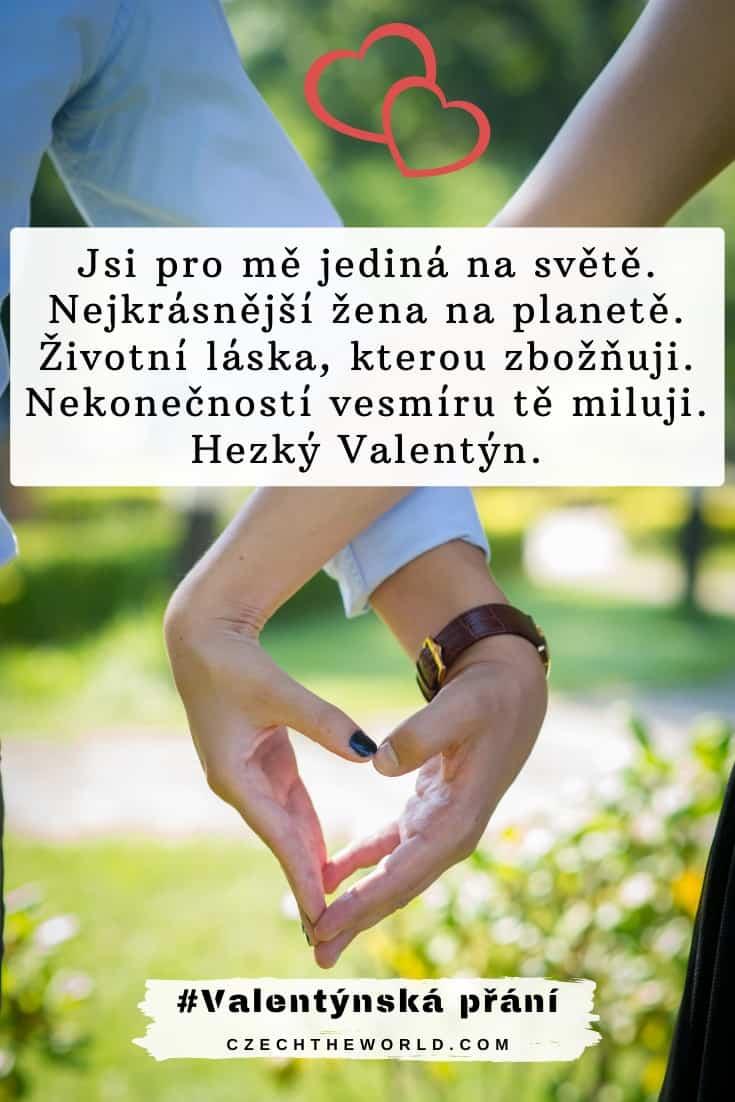 Valentýnská přání pro holky