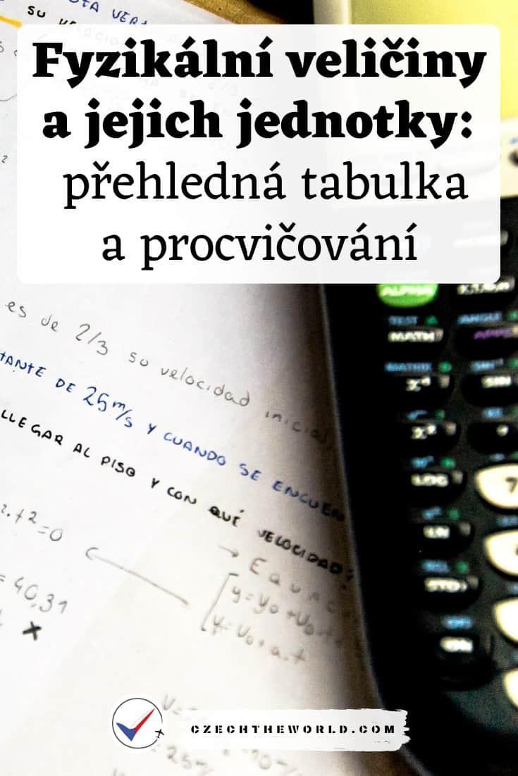 Fyzikální veličiny a jednotky: přehledná tabulka, procvičování 1