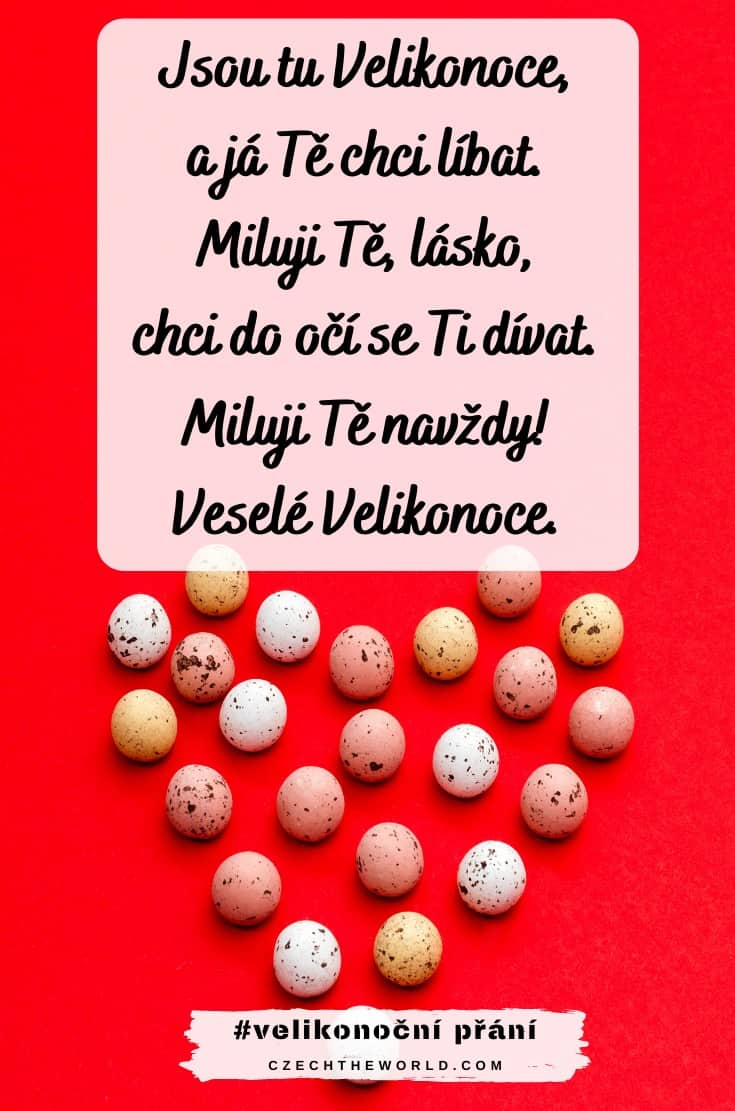 Velikonoční přání pro zamilované