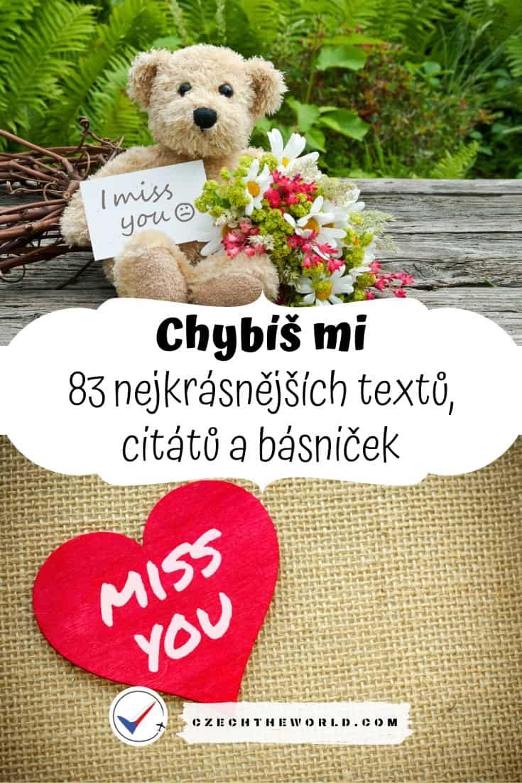 Chybíš mi nejkrásnější texty, citáty a básničky (1)