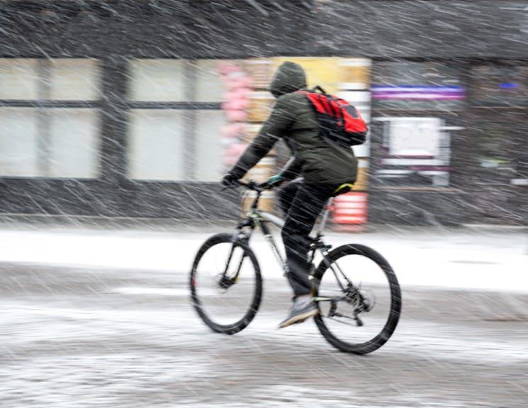 Jak jezdit na kole v zimě? 1