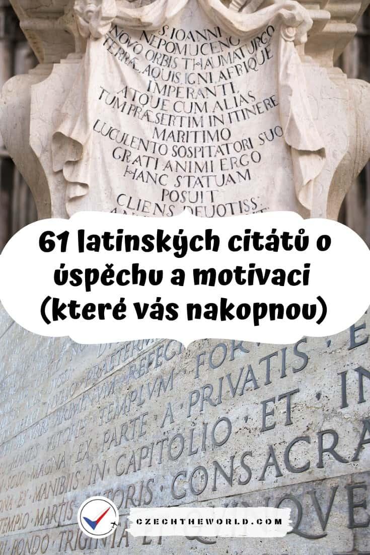 Latinské citáty o motivaci a úspěchu