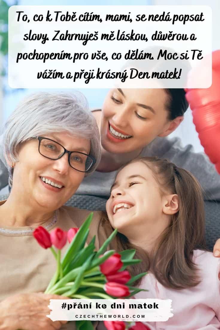 poděkování mamince