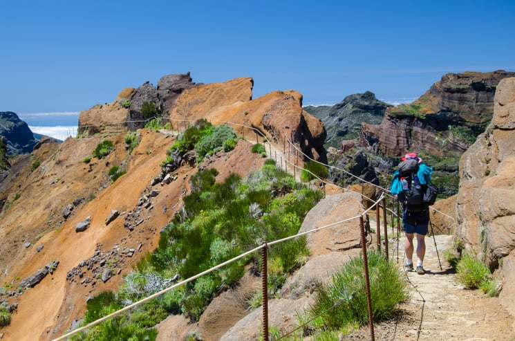 Přechod Madeiry - Úsek z Pico Areiro na Pico Ruivo