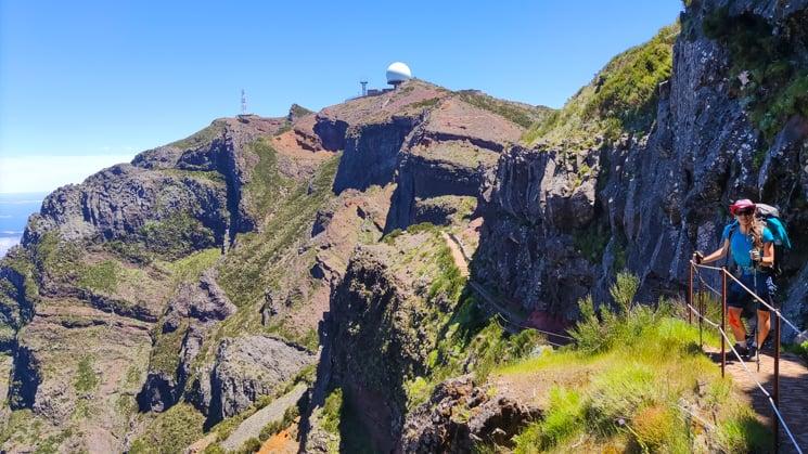 Madeira trek - Přechod z Pico Ariera na Pico Ruivo