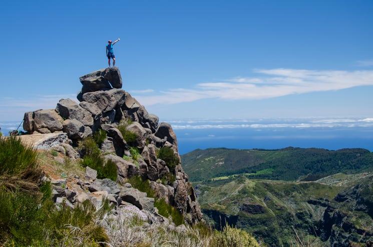 Přechod Madeiry - Vyhlídka pod vrcholem Pico Ariera