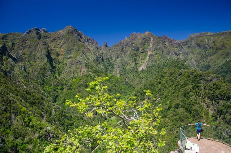 Přechod Madeiry / Madeira pěšky - vyhlídka Balcoes