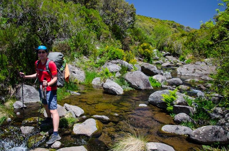 Přechod Madeiry - trek - Vrchní tok kaňonu Lejeado