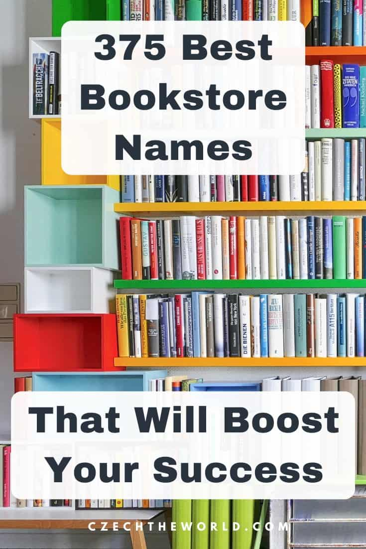 375 Best Bookstore Names that will Boost Your Success 1