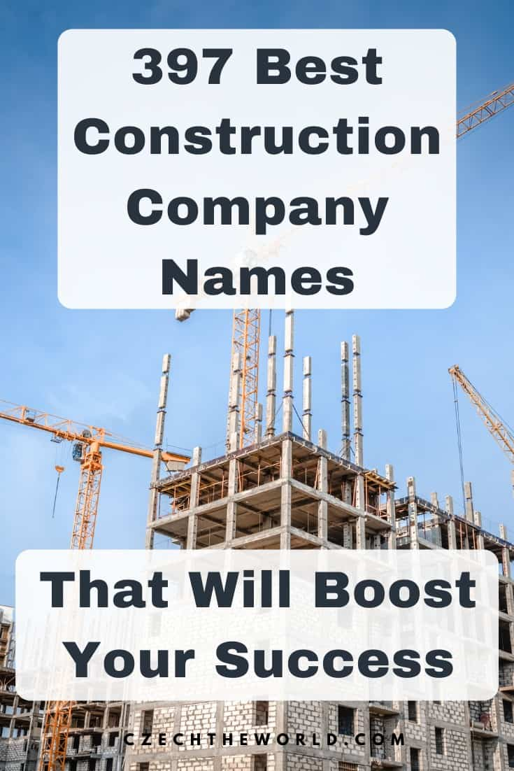 397 Best Construction Company Names to Boost Your Success 1