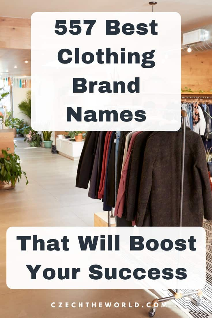 557 Best Clothing Brand Names to Boost Your Business Success 1